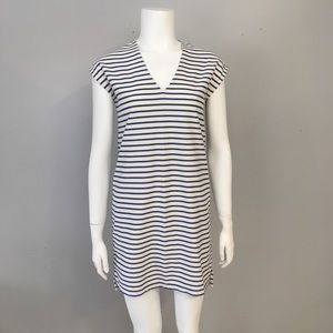 Madewell Vacances Blue White Dress